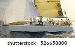 luxury yachts at sailing... | Shutterstock . vector #526658800
