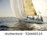 yachting. sailing yacht race.... | Shutterstock . vector #526660114