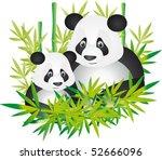 panda vector | Shutterstock .eps vector #52666096