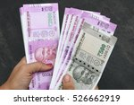 2000 and 500 rupee banknote... | Shutterstock . vector #526662919