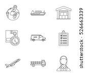 store icons set. outline... | Shutterstock .eps vector #526663339