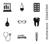 diagnosis icons set. simple...   Shutterstock .eps vector #526665364