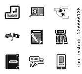 translation of language icons... | Shutterstock .eps vector #526666138