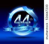 celebrating 44th anniversary... | Shutterstock .eps vector #526667233