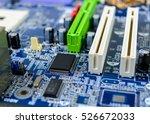 computer motherboard with... | Shutterstock . vector #526672033