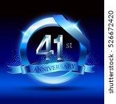 celebrating 41st anniversary... | Shutterstock .eps vector #526672420
