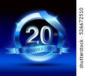 celebrating 20th anniversary... | Shutterstock .eps vector #526672510