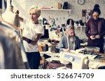 fashion design mannequin... | Shutterstock . vector #526674709
