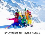 family ski vacation. group of... | Shutterstock . vector #526676518