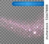 pink glitter star dust trail...
