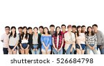 happy young student group ... | Shutterstock . vector #526684798