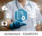 medical health care insurance... | Shutterstock . vector #526685254