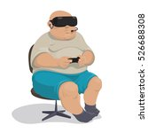 fat man in shorts with a...   Shutterstock .eps vector #526688308