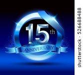 celebrating 15 years... | Shutterstock .eps vector #526688488