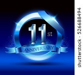 celebrating 11 years... | Shutterstock .eps vector #526688494