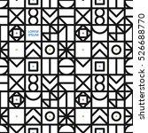 black geometrical seamless...   Shutterstock .eps vector #526688770