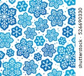 seamless pattern with blue... | Shutterstock .eps vector #526690330