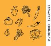 vegetable doodle | Shutterstock .eps vector #526694398