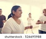 diversity people exercise class ... | Shutterstock . vector #526695988