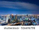 aerial view of beautiful osaka...   Shutterstock . vector #526696798