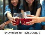 birthday celebration party many ... | Shutterstock . vector #526700878