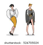 girl illustrations. fashion...   Shutterstock .eps vector #526705024