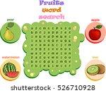 crossword for learning english. ... | Shutterstock .eps vector #526710928