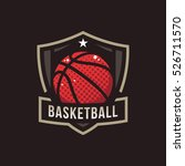 basketball logo  american logo... | Shutterstock .eps vector #526711570