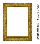gold picture frame. isolated on ... | Shutterstock . vector #526713730
