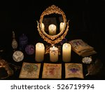 fortune telling ritual with the ... | Shutterstock . vector #526719994