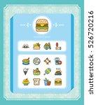 icon set food vector | Shutterstock .eps vector #526720216