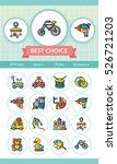 icon set toy vector | Shutterstock .eps vector #526721203