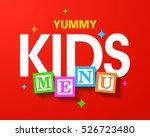 yummy kids menu cover template