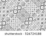beautiful old ceramic tiles... | Shutterstock . vector #526724188