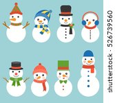 snowman greeting collection... | Shutterstock .eps vector #526739560