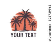 palm tree logo vector   Shutterstock .eps vector #526739968