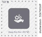 hand symbol settings wrench... | Shutterstock .eps vector #526740169