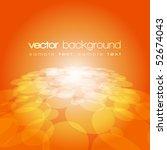 Vector 3d Circle On The Orange...