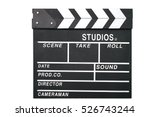 clapper. clapboard isolated on... | Shutterstock . vector #526743244