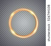 magic gold circle light effect. ... | Shutterstock .eps vector #526744108