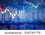 various type of financial and... | Shutterstock . vector #526745779