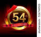 54th golden anniversary logo...   Shutterstock .eps vector #526748503