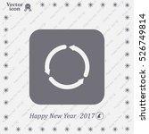 circular arrows vector icon | Shutterstock .eps vector #526749814