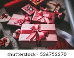 stylishly packaged boxes with... | Shutterstock . vector #526753270