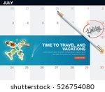 creative concept travel banner... | Shutterstock .eps vector #526754080
