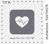 cardiogram icon vector | Shutterstock .eps vector #526754278