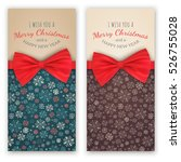 christmas and new year banners... | Shutterstock .eps vector #526755028