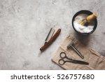 mens hairdressing desktop with... | Shutterstock . vector #526757680
