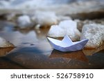 Tinted Photo Paper Boat On...