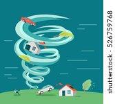 destructive tornado  concept.... | Shutterstock . vector #526759768